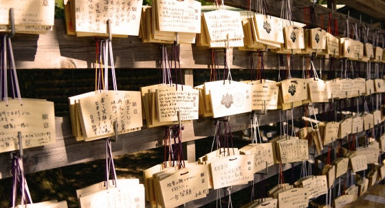 Prayer offerings at Meiji Shrine