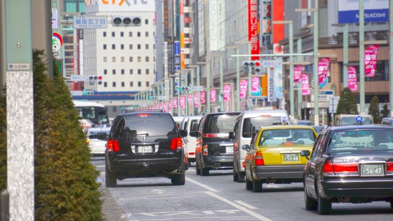 Busy streets of Ginza