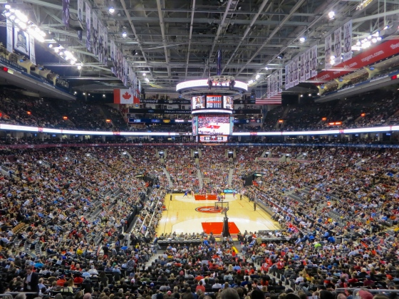 Raptors game at the ACC