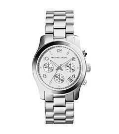 Michael Kors Runaway Silver Chronograph Watch