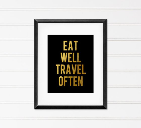 MiaoMiaoDesign Eat Well Travel Often Print
